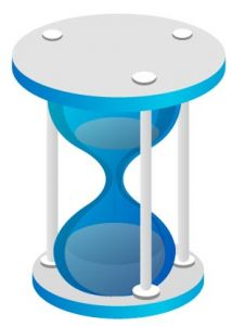 Dark blue hourglass vector design
