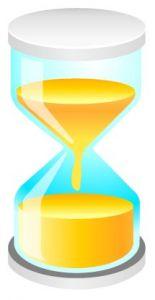 White hourglass vector design