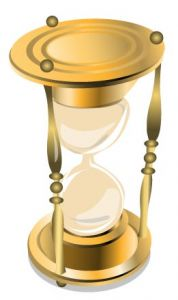Hourglass vector template