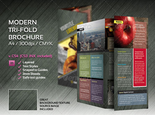 Indesign a4 tri fold brochure for Indesign brochure templates free tri fold
