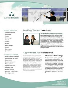 InDesign business brochure design