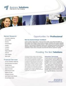 InDesign business solutions brochure