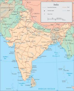 India vector maps