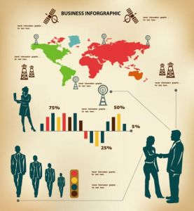 Infographics business concept vectors