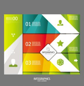 Infographics numbered lists vectors