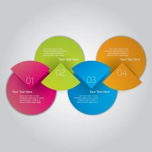 Infographics pie chart label vector