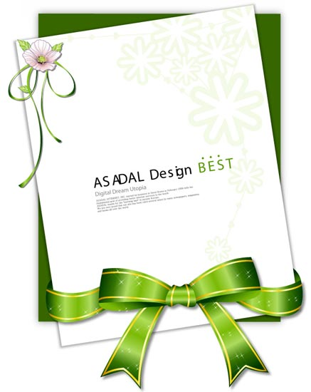 invitation cards design with ribbons, Invitation templates
