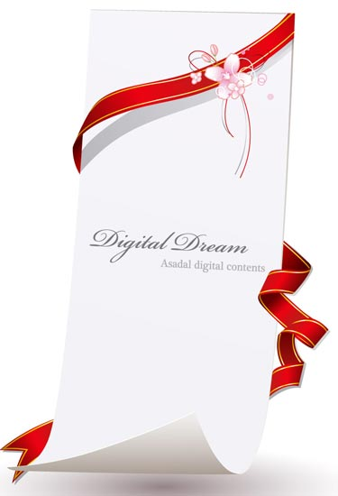 Invitation cards design with ribbons invitation card design stopboris Image collections