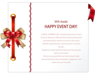 Card with ribbons design