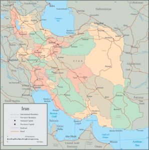 Iran vector map