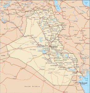 Iraq vector map