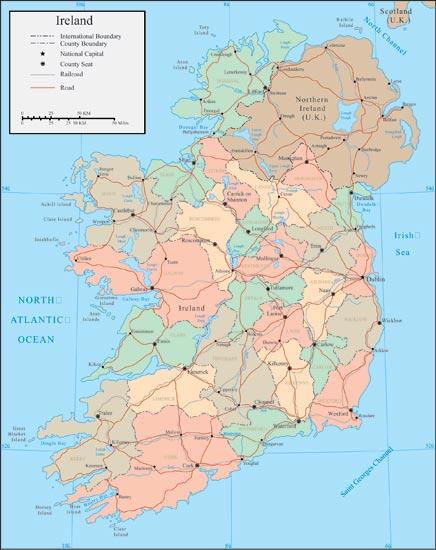 Map Of Ireland Vector.Ireland Map Vector