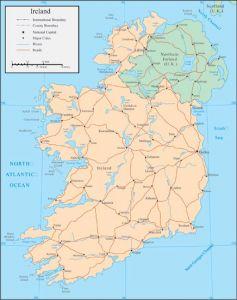Ireland vector map