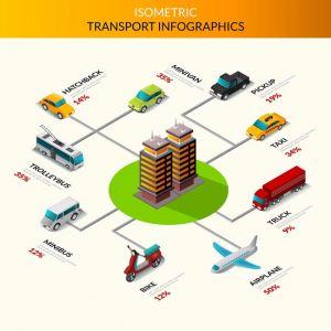 Isometric Transport Infographics,Isometric Transport Infographics