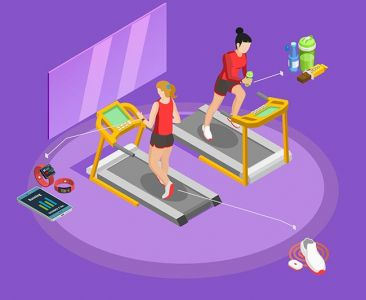 Healthy Lifestyle Isometric Template,Healthy Lifestyle Isometric Template