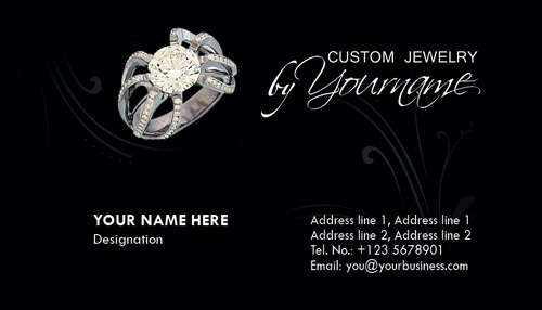 Business card photoshop templates jewelry business card photoshop templates wajeb Choice Image