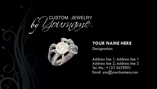 Jewelry business card photoshop templates