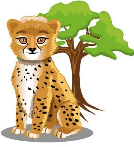 Jungle ghepard cartoon vector