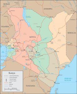 Kenya vector map