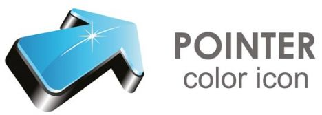 Blue pointer business icon