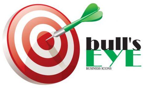 Bulls eye business icon