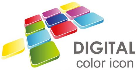 Cmyk digital color icon