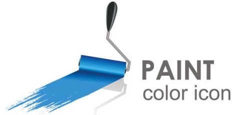 Paint logo vector icon