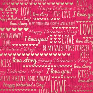 red background with golden valentine hearts and wishes text,  vector