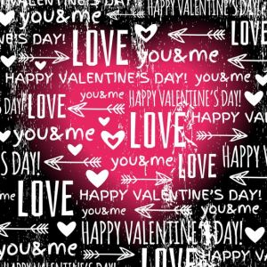 black background with  red valentine heart and wishes text,  vector