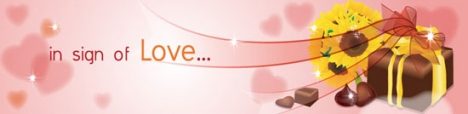 Love vector banner