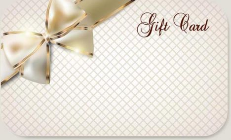 Luxury cards bows vector