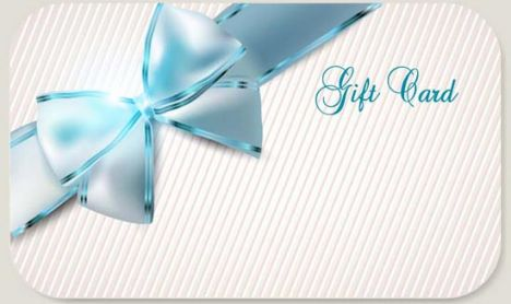 Luxury cards bows vector design