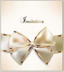 Luxury cards bows vector background