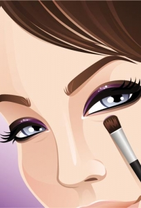 Make-up vector template