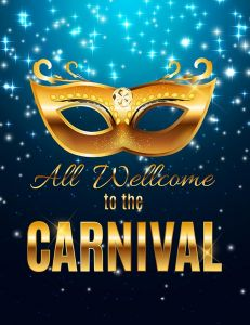 Carnival Party Mask Holiday Poster Background. Vector Illustration