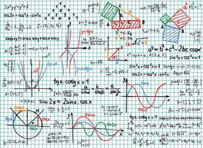 Mathematical formulas vectors design