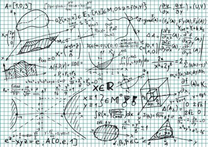 Mathematical formulas vectors template
