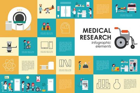 Medical research flat web infographic. Syringe Doctor Nurse Ambulance Hospital vector icons. Medicine options design concept,Medical research flat web infographic. Syringe Doctor Nurse Ambulance Hospital vector icons. Medicine options design concept