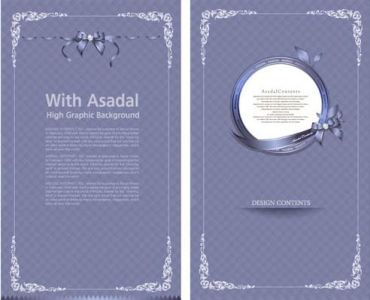Event menu card design
