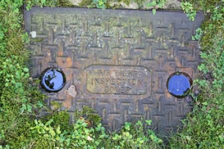 Metal manhole texture