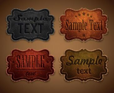 Leather labels for jeans vectors