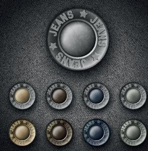 Metalic buttons for jeans vectors