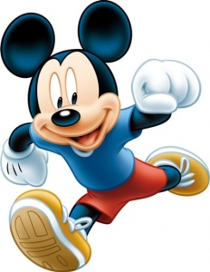 Mickey mouse cartoon character vector