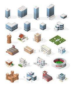 isometric-city-vector-elements4