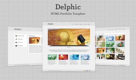 Minimalist HTML portfolio template