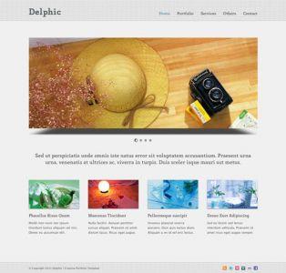 Minimalist HTML portfolio design