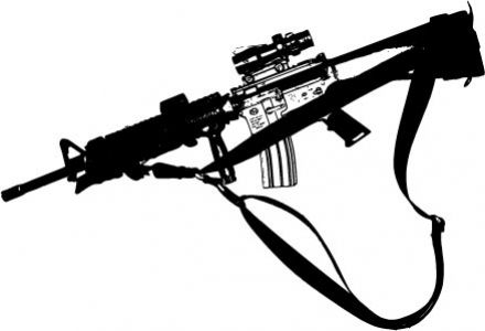 Modern soldiers and weaponry vectors