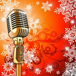 Music microphone vector