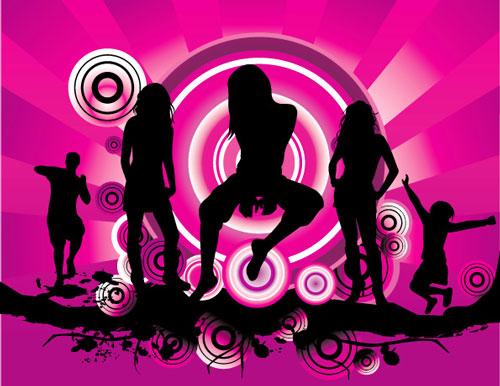 Music party vectors design