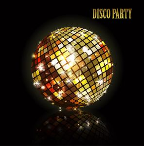 Golden disco ball.,Golden disco ball.
